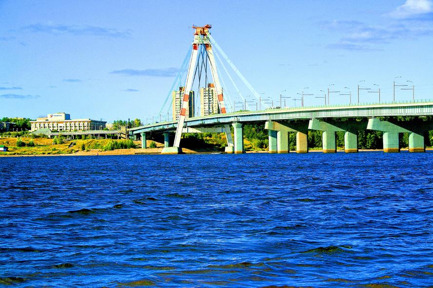фото Октябрьского моста в Череповце