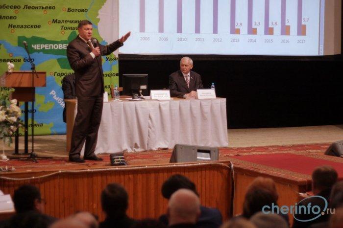 Визит губернатора Олега Кувшинникова в Череповецкий район - выступление
