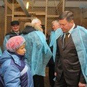 Визит губернатора Олега Кувшинникова в Череповецкий район - птицефабрика