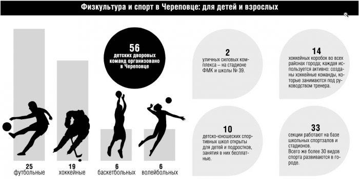 Физкультура и спорт в Череповце