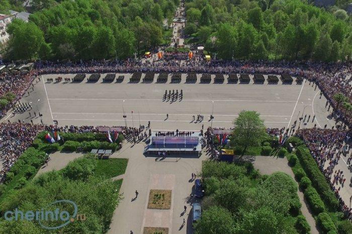 Парад Победы - 2016, вид сверху