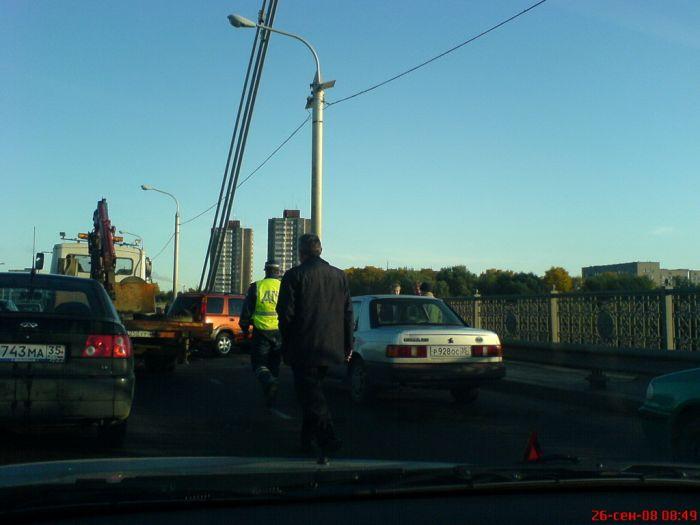 ДТП на Октябрьском мосту, 26.09.2008