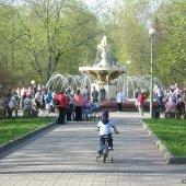 Фонтан в парке, 9 мая 2009 г.