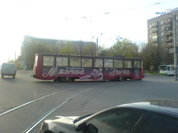 Трамвай. Вечер 9 мая 2008 г.