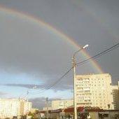 Двойная радуга в Череповце