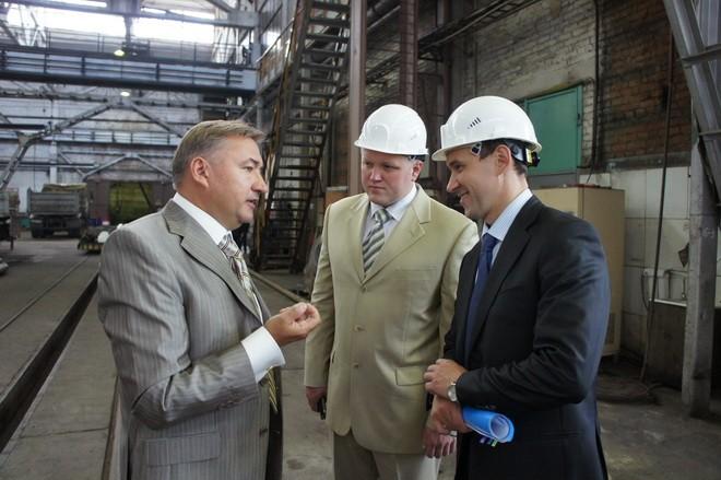 Визит мэра Ю. Кузина на ЧЛМЗ - разговор с Боглаевым