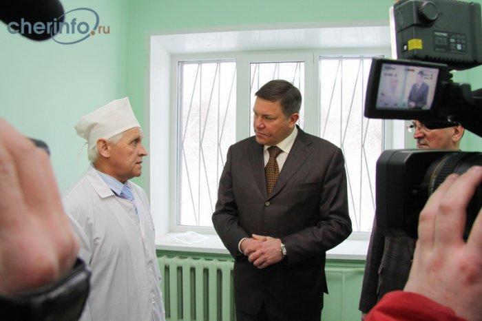 Визит губернатора Олега Кувшинникова в Череповецкий район - врачи