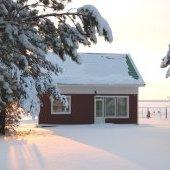 База Верхняя Рыбинка зимой